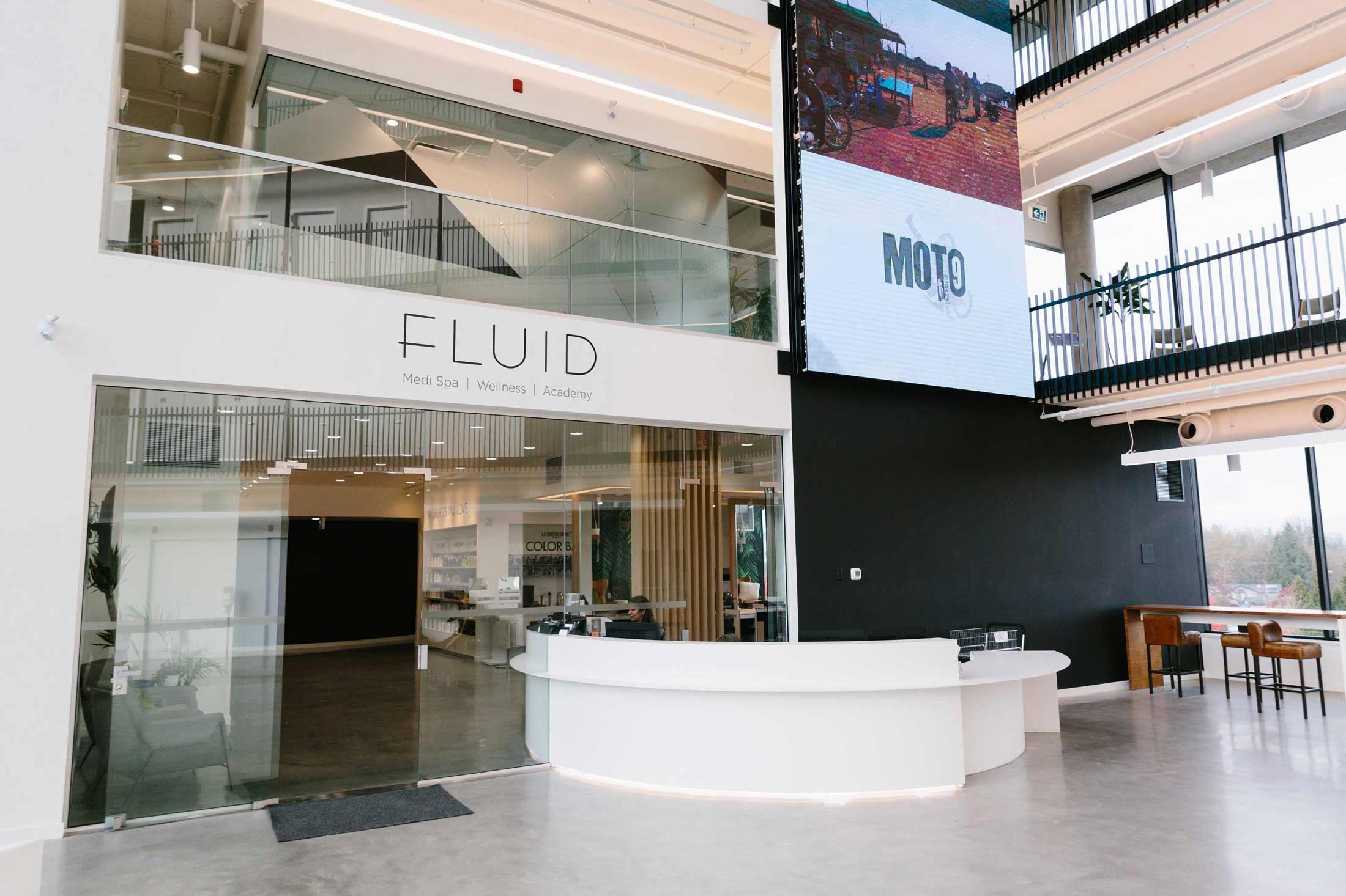 fluid-reception